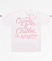 Crooks & Castles Ruler Script White T-Shirt