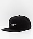 Crooks & Castles No Retreat Black Strapback Hat
