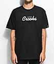 Crooks & Castles Stadium Black T-Shirt