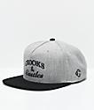 Crooks & Castles Timeless Grey & Black Snapback Hat
