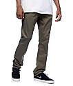 Free World Night Train Regular Fit Olive Twill Pants (Past Season)