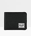 Herschel Roy Black Canvas Bifold Wallet