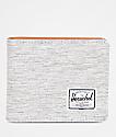 Herschel Supply Co. Hank Light Grey Crosshatch Bi-Fold Wallet