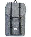 Herschel Supply Co. Little America Raven Crosshatch & Black Rubber 25L Backpack