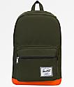 Herschel Supply Co. Pop Quiz Forest Night & Vermillion Orange 22L Backpack