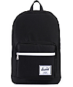 Herschel Supply Pop Quiz Black Faux Leather 20L Backpack