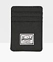 Herschel Supply Raven Black Cardholder Moneyclip Wallet