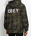 Obey Afton Camo Coaches Jacket