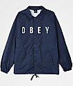 Obey Anyway Navy Coaches Jacket