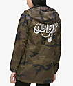 Obey Dominance Camo Hooded Coaches Jacket