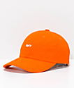 Obey Jumble Bar III Orange 6 Panel Hat