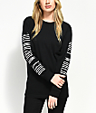 Obey Proof Type Long Sleeve Faded Black T-Shirt