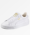 PUMA Basket Platform White Shoes