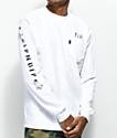 RIPNDIP Lord Nermal White Long Sleeve Pocket T-Shirt