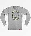 Spitfire Bighead Grey Long Sleeve T-Shirt