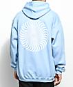 Spitfire Classic Swirl Light Blue & White Hoodie