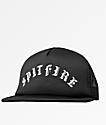Spitfire Old English Arc Black Trucker Hat