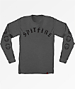 Spitfire Old English Charcoal Long Sleeve T-Shirt