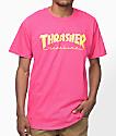 Thrasher Magazine Logo Pink T-Shirt