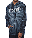 Thrasher Silver Flame Logo Grey Tie Dye Pullover Hoodie