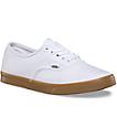 Vans Authentic Lo Pro White & Gum Shoes
