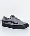 Vans Boys 112 Gunmetal & Black Skate Shoes