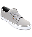 Vans Chukka Low Grey & White Canvas Skate Shoes