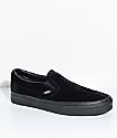 Vans Classic Slip-On Black Velvet Shoes