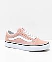 Vans Old Skool Mahogany Rose & True White Skate Shoes