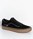 Vans Old Skool Pro Black & Gum Skate Shoes