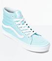 Vans Sk8-Hi Slim Crystal Blue & White Canvas Shoes