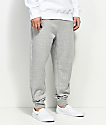 Zine Cap Athletic Grey Fleece Jogger Pants