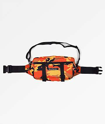 40s & Shorties Orange Camo Side Pouch Bag