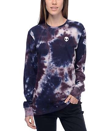 A-Lab Aby Alien Blue & Purple Tie Dye Long Sleeve T-Shirt