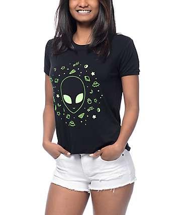 A-Lab Byrl Alien Black Ringer T-Shirt
