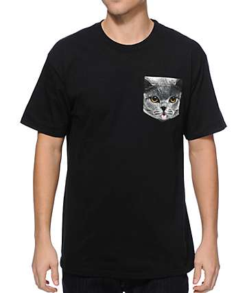 A-Lab Cat On A Pocket Pocket T-Shirt