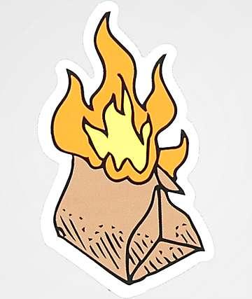 A-Lab Flaming Poo Bag Sticker