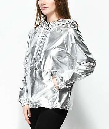 A-Lab Layla Silver Windbreaker Jacket