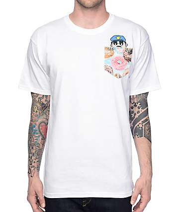 A-Lab Officer Sprinkles White Pocket T-Shirt