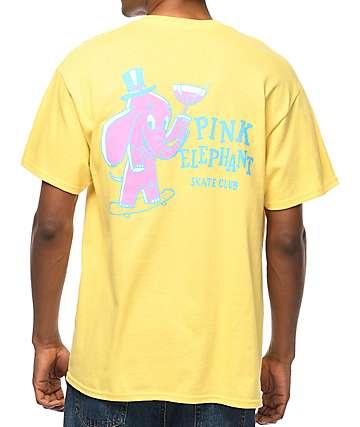 A-Lab Pink Elephant Yellow T-Shirt