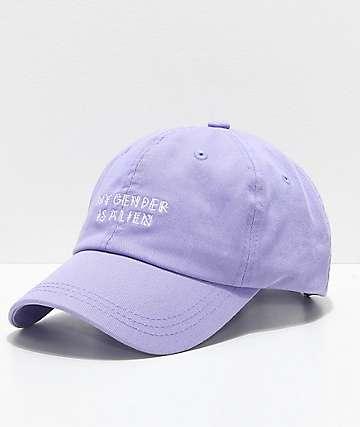 A-Lab Solstice My Gender Is Alien Lavender Dad Hat