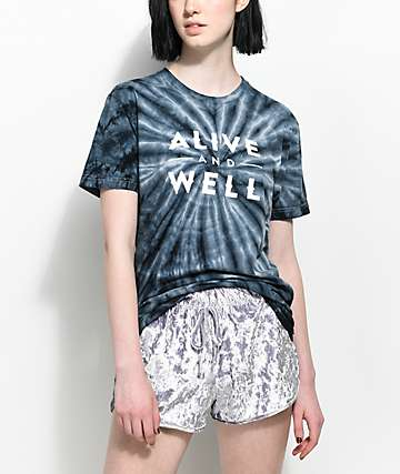 Alive & Well Black Tie Dye T-Shirt