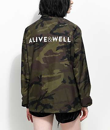 Alive & Well Camo Coaches Jacket