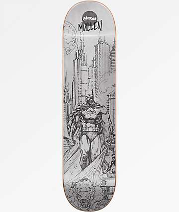 "Almost Mullen Batman Pencil Sketch 8.0"" Skateboard Deck"