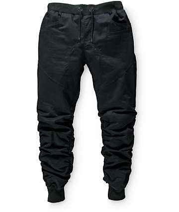 American Stitch Boys Scrunch Black Jogger Pants