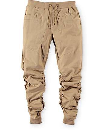American Stitch Boys Scrunch Khaki Jogger Pants