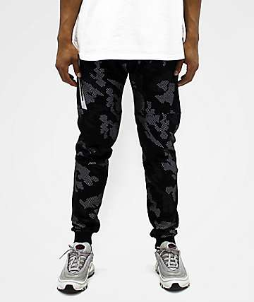 American Stitch Camo Black Jogger Sweatpants
