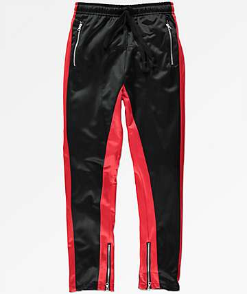 American Stitch Duo STP Black & Red Track Pants