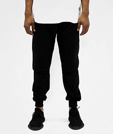 American Stitch Moto Black Jogger Sweatpants