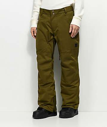 Aperture Boomer Work Pant Olive 10K Snowboard Pants